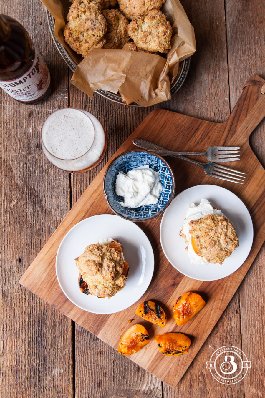 Grilled Apricot Saison Shortcakes with Ginger Mascarpone Whipped Cream2