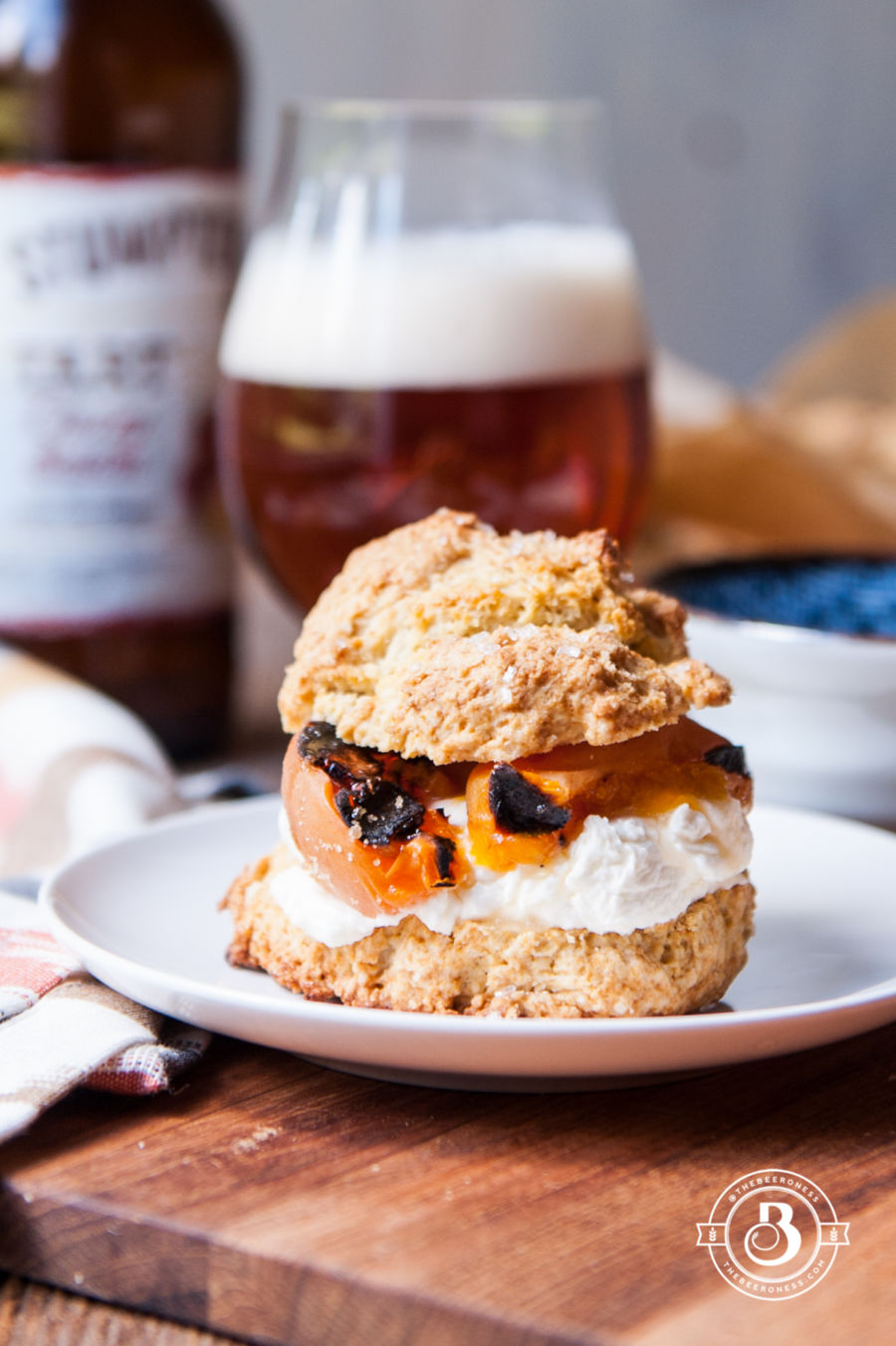 Grilled Apricot Saison Shortcakes with Ginger Mascarpone Whipped Cream3