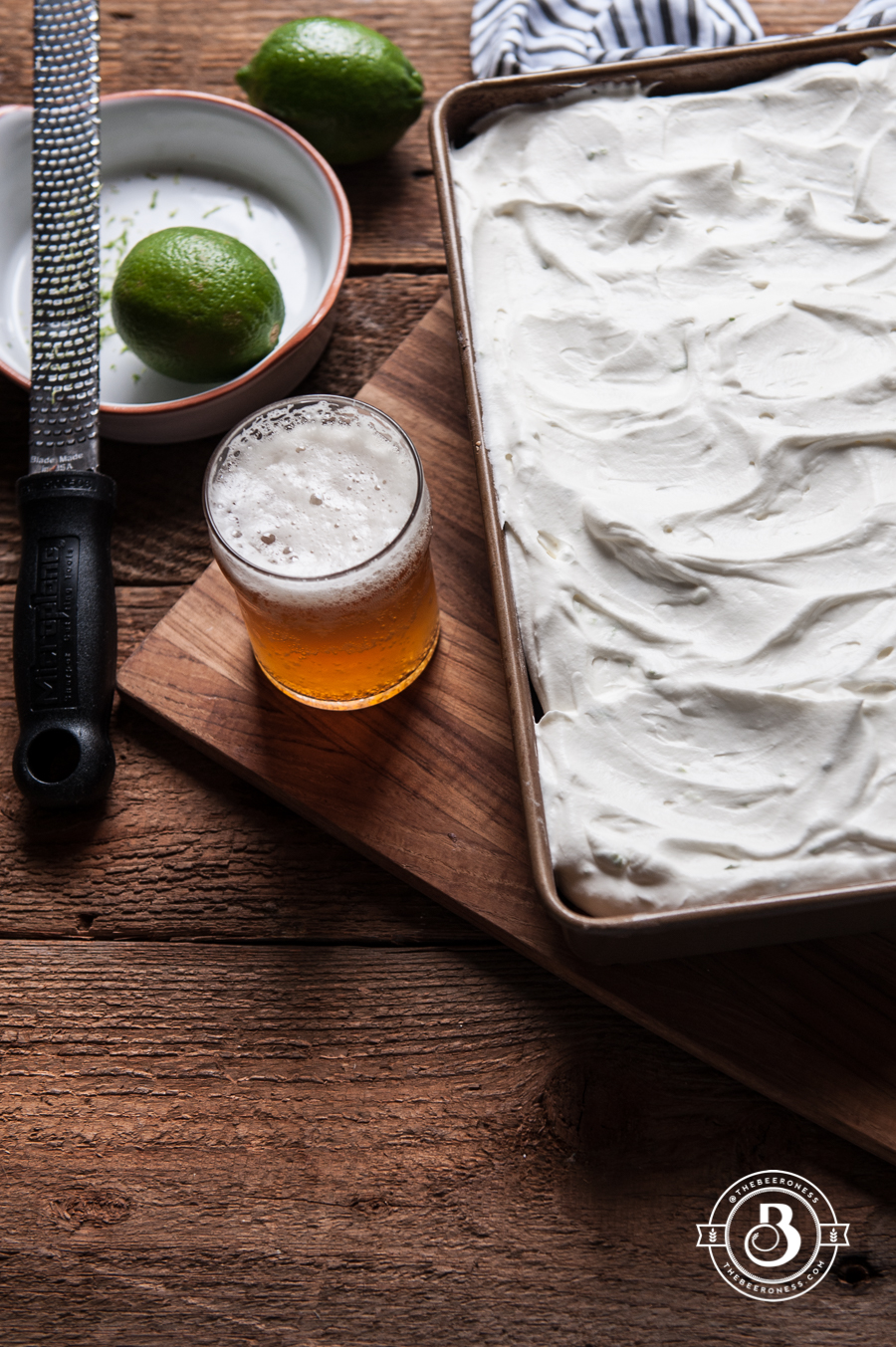 Lemon Beer Party Cake with Rum Lime Whipped Cream1