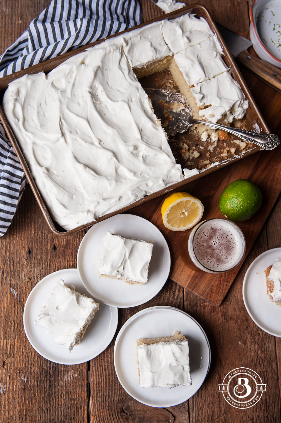 Lemon Beer Party Cake with Rum Lime Whipped Cream3