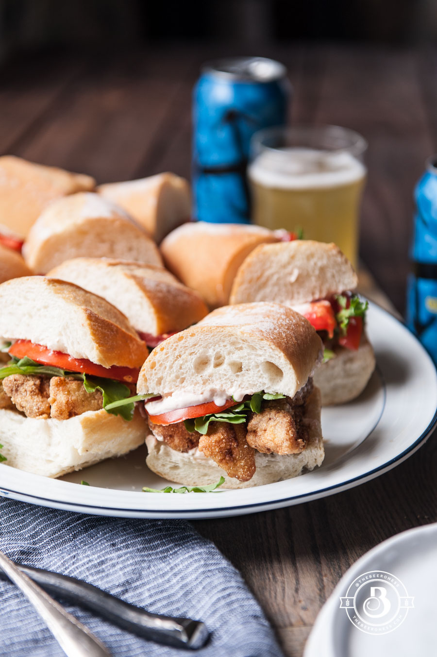 Beer Battered Cod Po' Boy Sliders3