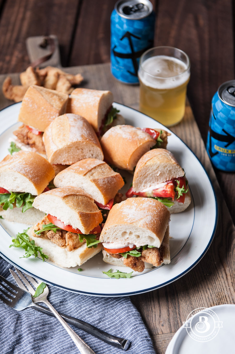 Beer Battered Cod Po' Boy Sliders5