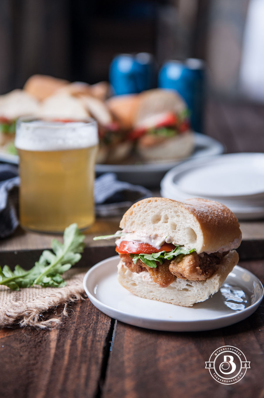 Beer Battered Cod Po' Boy Sliders6