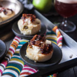 Baked Apples with Wild Ale Mascarpone and Beer Candied Pecans