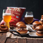 Beer Braised Short Rib Sliders with Kettle Chip Crusted Onion Rings