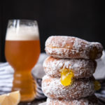 Beer Doughnuts with IPA Lemon Curd