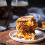 Slow Cooker Beer Caramelized Onion Grilled Cheese Sandwiches