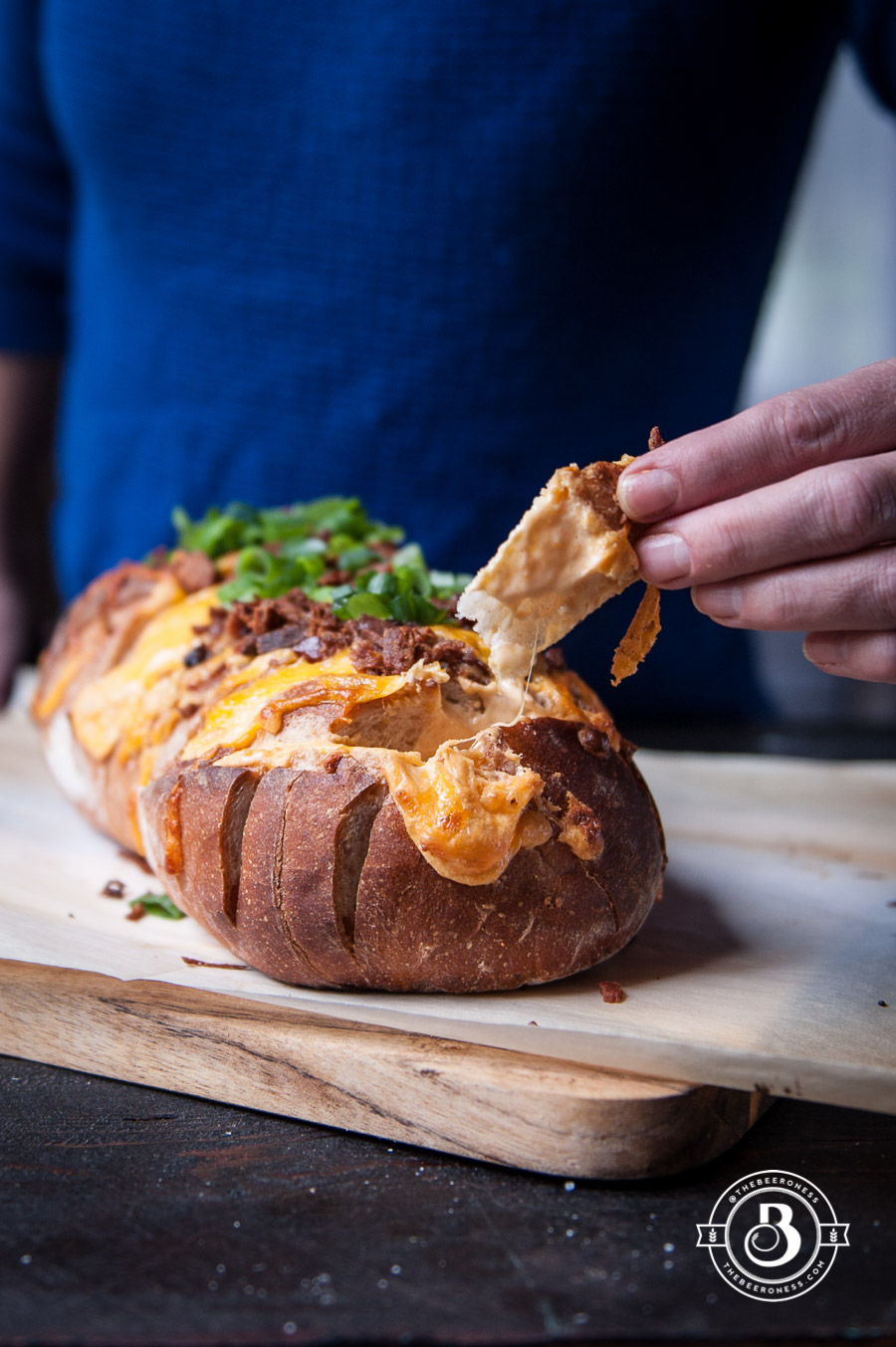 Easy Beer Cheese and Bacon Pull-apart Loaf