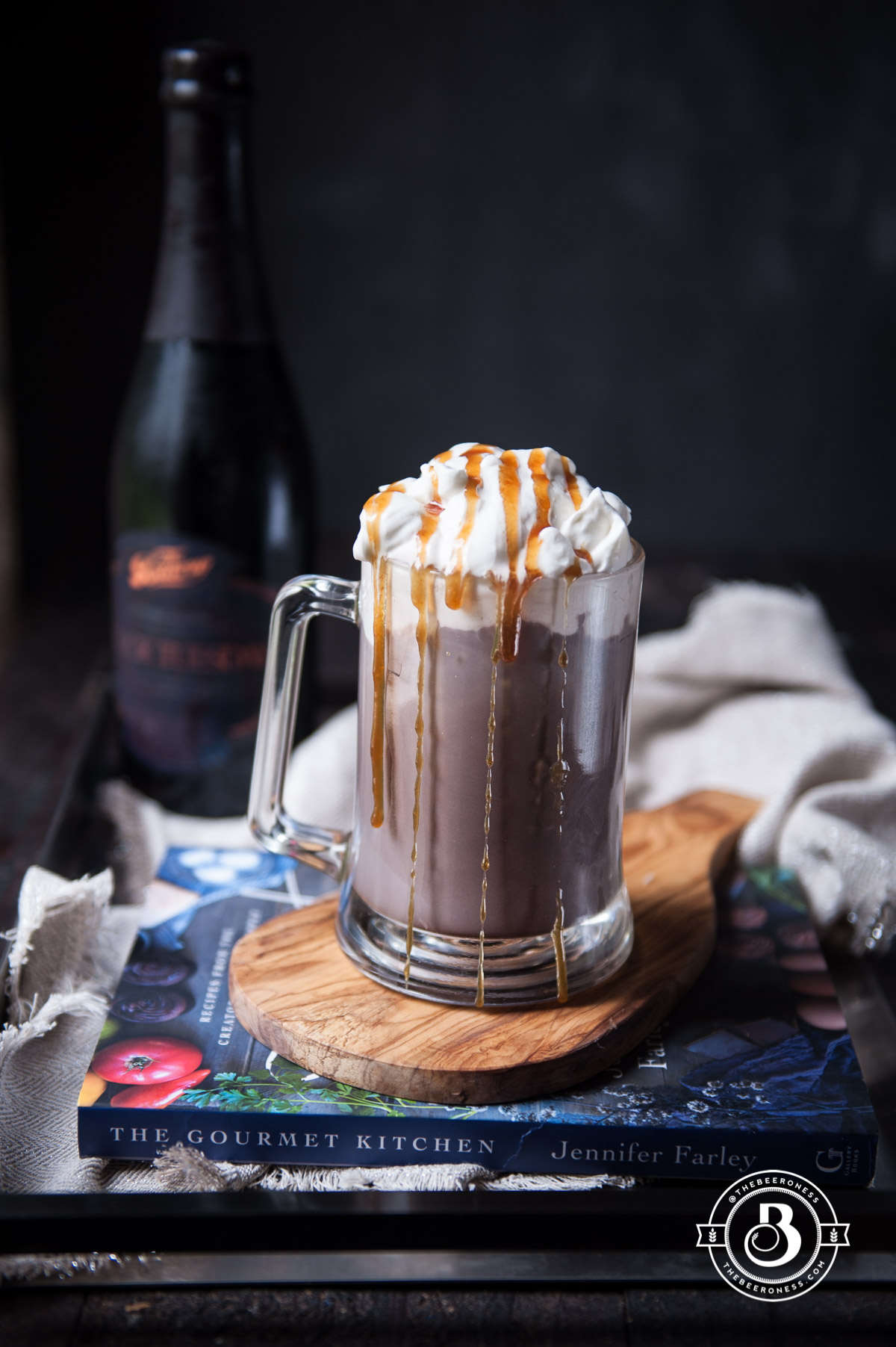 Spiked Hot Chocolate with Salted Caramel Whipped Cream - The Beeroness