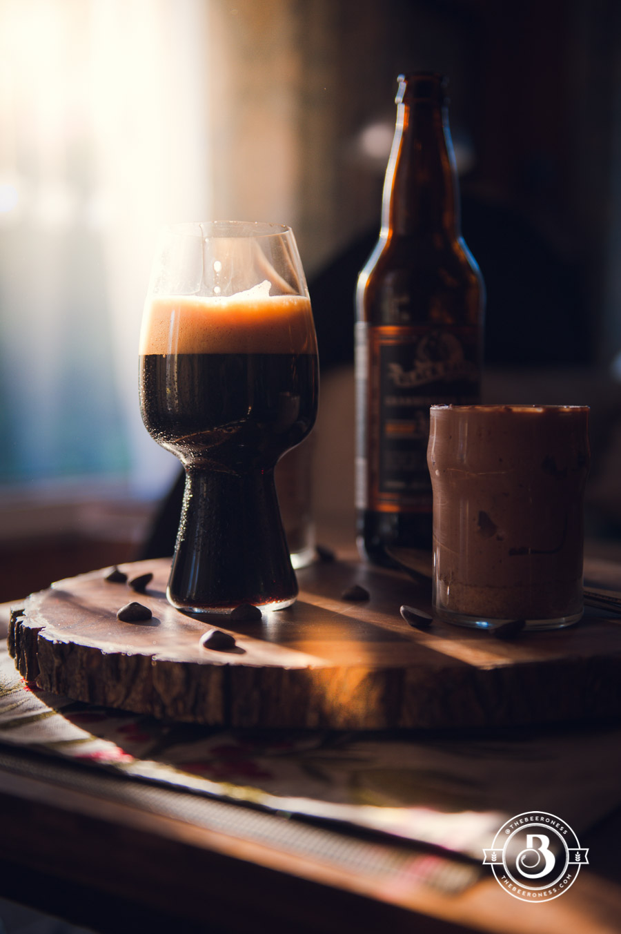 No Bake Chocolate Stout Cheesecake Cups - The Beeroness