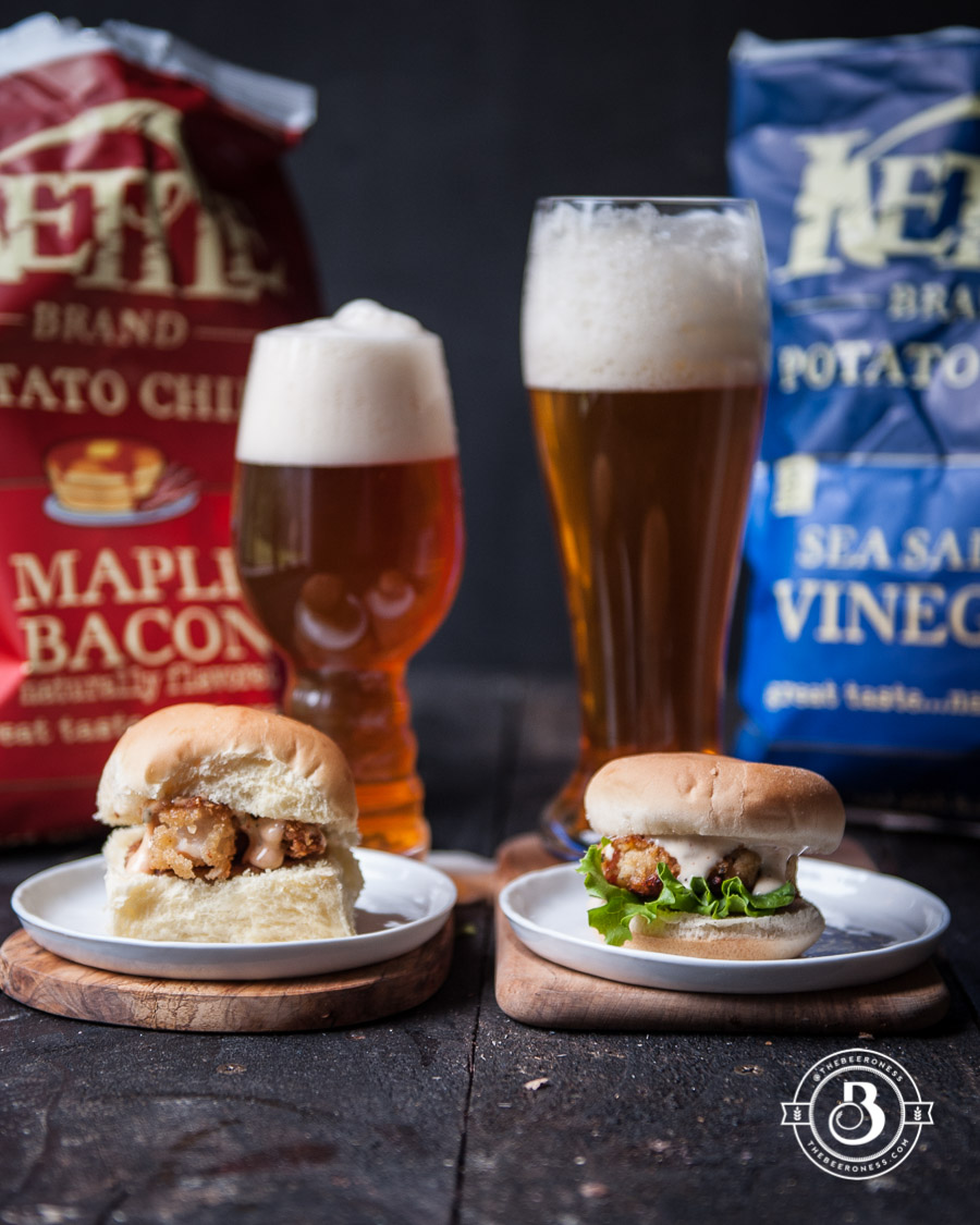 Shrimp and Grits Sliders and an IPA vs Crab Cake Sliders and a Pilsner