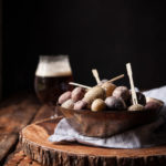 Salt Roasted Mini Potatoes with Garlic Sage Beer Butter