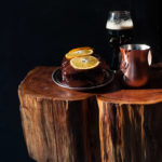Vanilla Orange Hefe Pound Cake with Espresso Stout Ganache