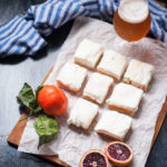 Blood Orange IPA Bars with Saffron Cream