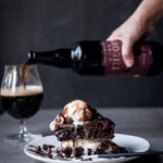 Ridiculous Chocolate Stout Brownie Sundaes (for two)