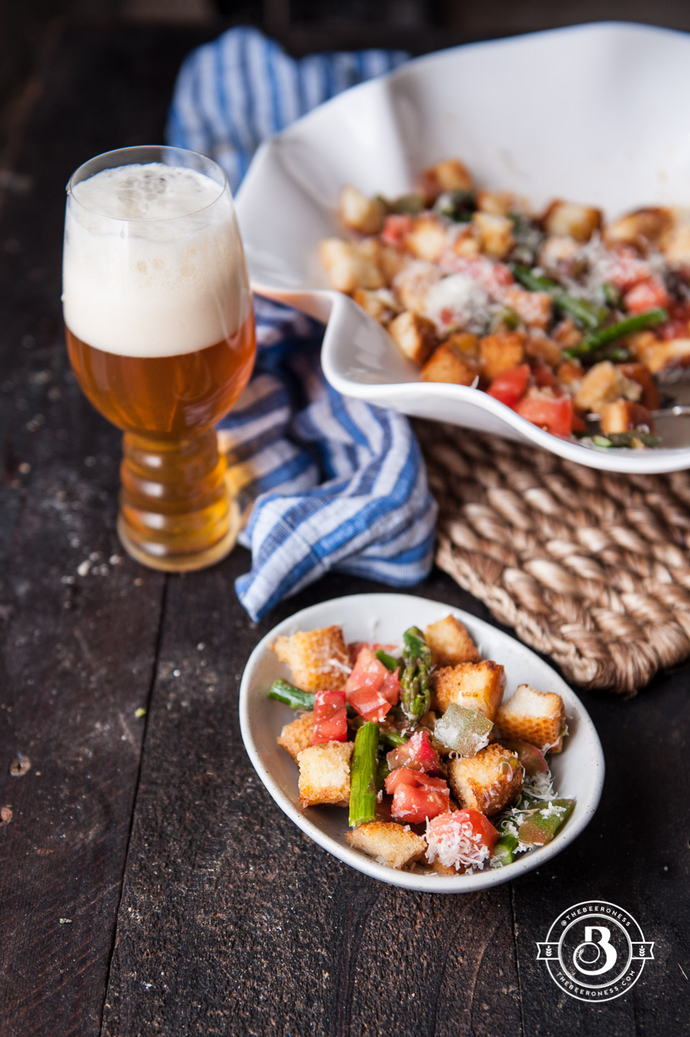 Summer IPA Panzanella Salad. It's a salad with bread! It's the best. SO good!