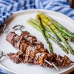 Grilled Beer Brined Filet Tips with Hoisin Glaze