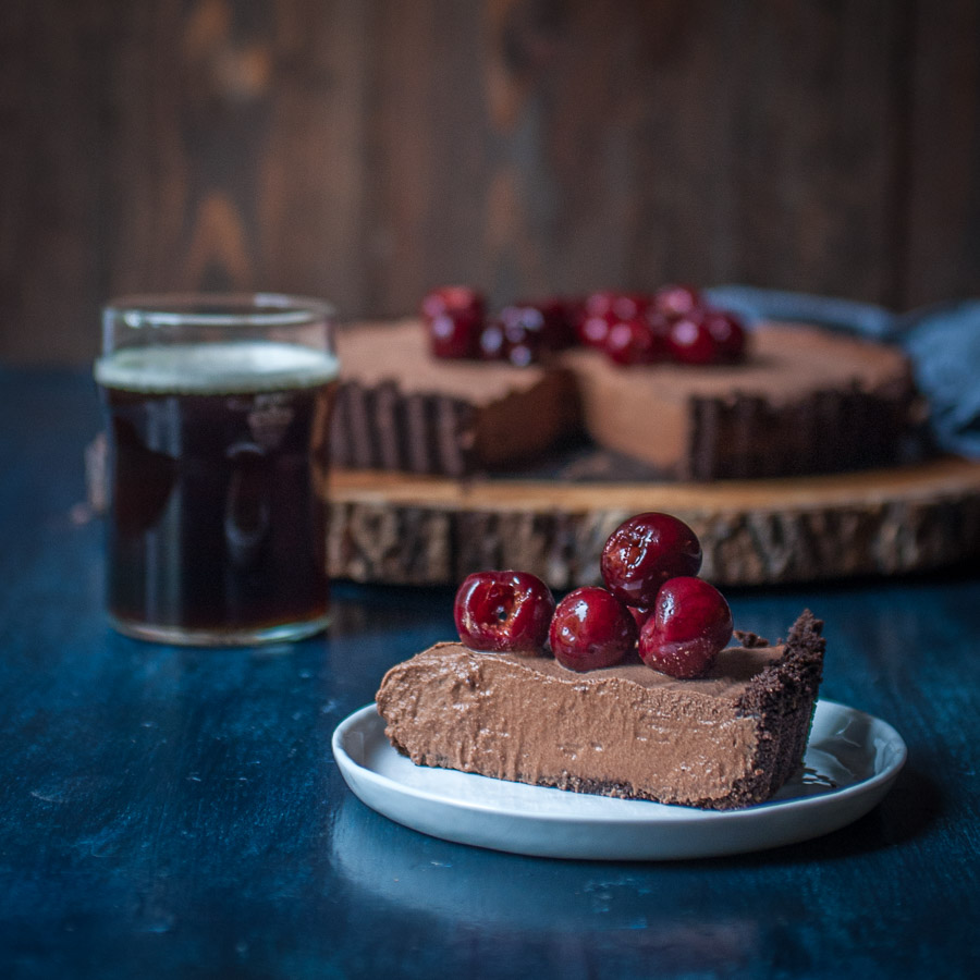 Chocolate Stout Mousse Tart with Bourbon Stout Cherries - The ...