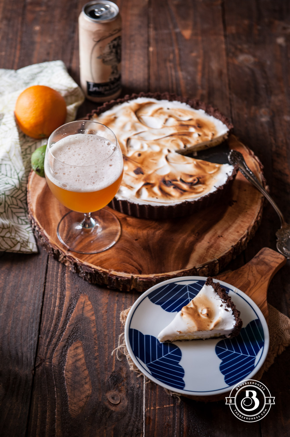 Orange-Lime Belgian Wit Cream Tart