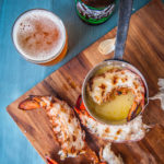 Grilled Garlic Beer Butter Lobster