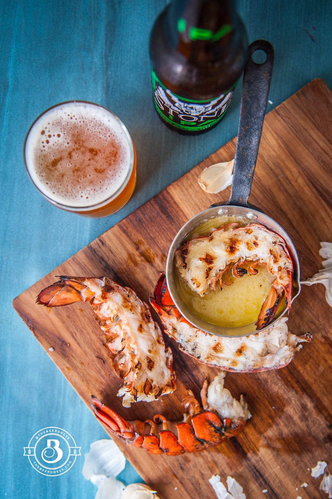 Grilled Garlic Beer Butter Lobster - The Beeroness