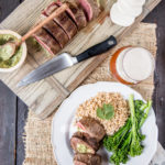 Mozzarella and Beer Pesto Stuffed Flank steak