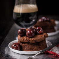 Individual Stout Mousse Cakes with Flambé Bourbon Beer Cherries2