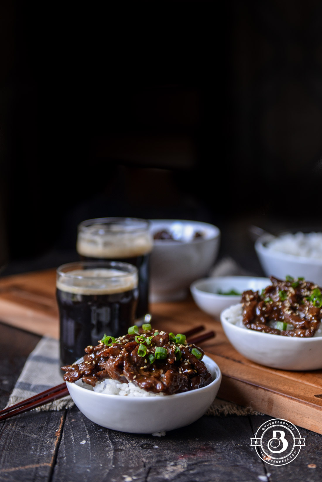 Sweet and Sticky Garlic Stout Beef, 20 minutes and it's so good!