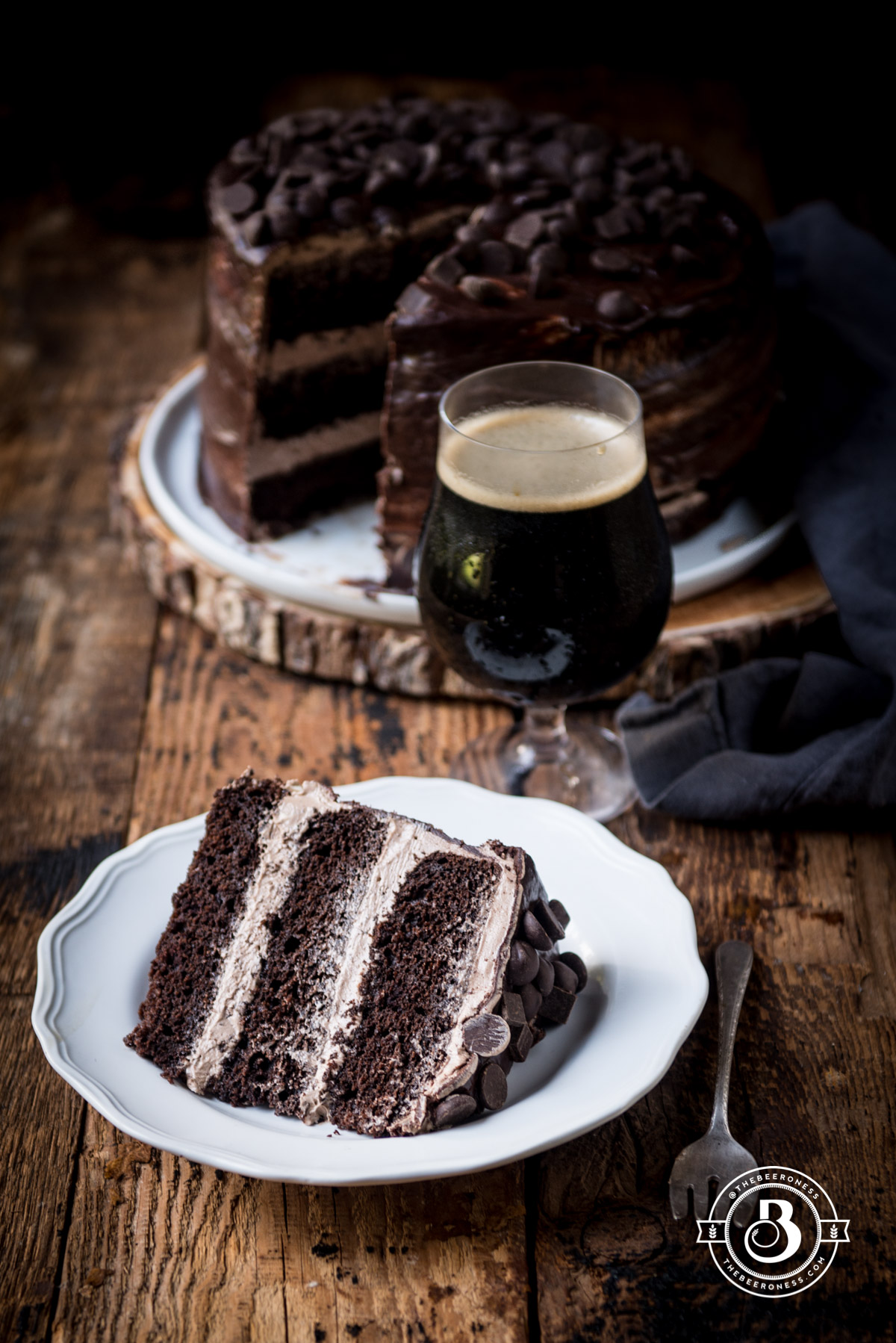 Drunk Diablo: Chocolate Stout Devils Food Cake with Mexican Hot Chocolate Frosting