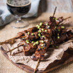 Grilled Mongolian Stout Beef Skewers