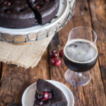 Chocolate Stout Cake with Cherries: Fudgy and Flourless!