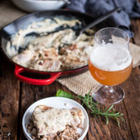 Skillet Sour Cream Beer Chicken