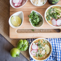 Green Tomato Recipe: Beer Chicken Posole Verde