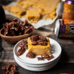 IPA Pumpkin Cheesecake Bars with Beer Candied Pecans