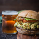Balsamic Stout Mushroom Sandwich with Chipotle Guac and Caramelized Leeks + MY NEW BOOK