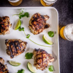 Grilled Cilantro Lime Beer Chicken