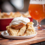 Pineapple Hefeweizen French Toast Bake with Rum Whipped Cream