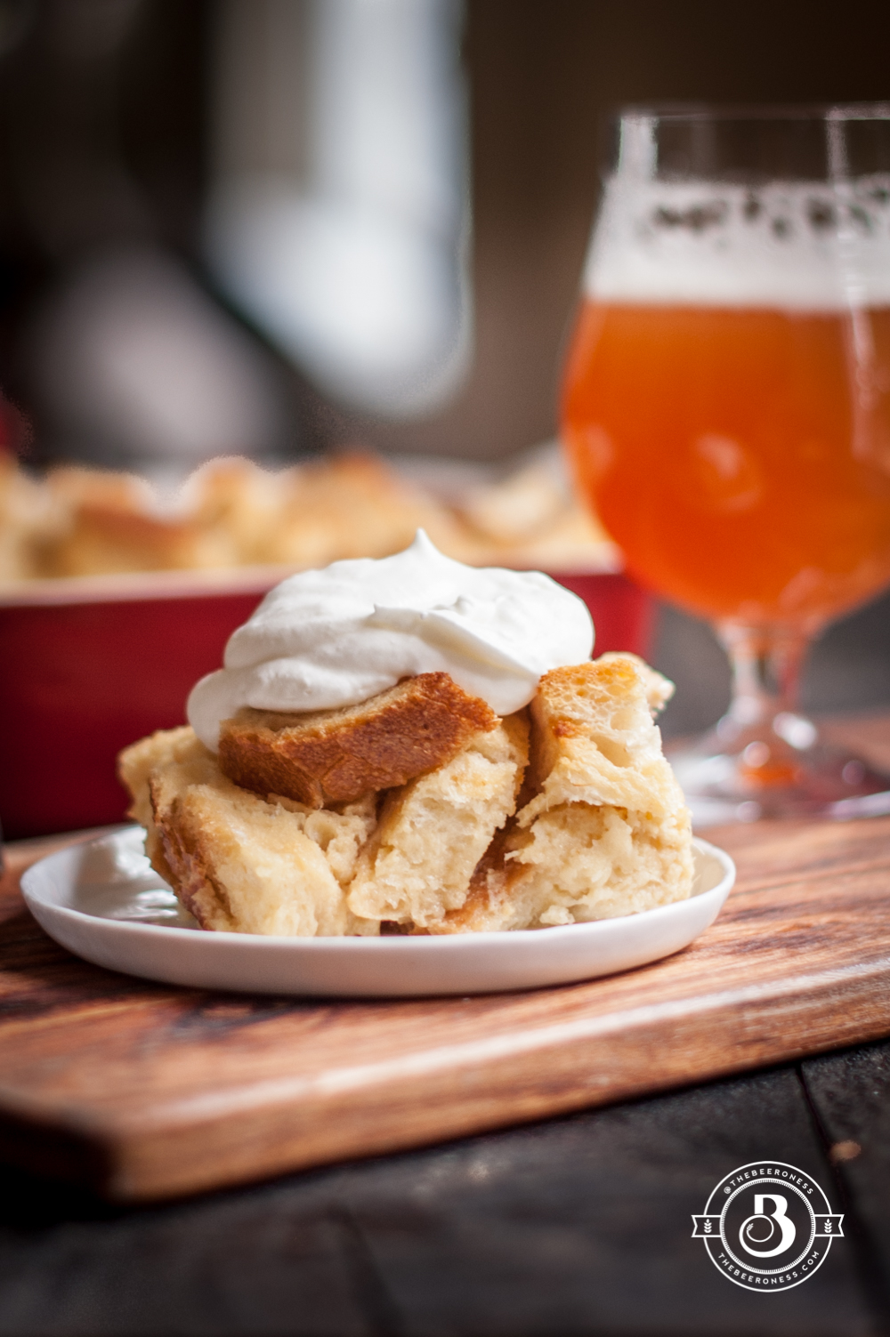 4f48b48599 Pineapple Hefeweizen French Toast Bake with Rum Whipped Cream