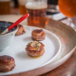 Prosciutto Wrapped Beer Brined Scallops with Chimichurri Butter + The Tabletop Draft Pour System that I love