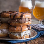 Beer Doughnut Ice Cream Sandwiches
