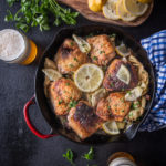 Lemon Artichoke Skillet Beer Chicken