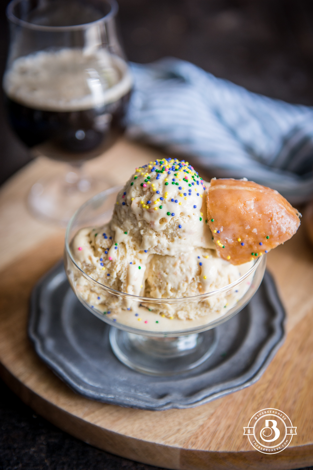 Beer and Doughnut Ice Cream