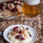Grilled Beer Butter Scallops with Cherry Salsa