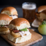 Beer Battered Fried Green Tomato BLT Sliders with Chipotle Crema