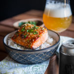 Broiled Salmon with IPA Thai Chili Sauce