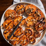 Melting Beer Sweet Potatoes with Balsamic and Hazelnuts