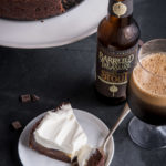 Stout Chocolate and Vanilla Beer Cream Pie with Rum Whipped Cream