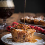 Overnight Maple Beer Pecan Croissant Bread Pudding Muffins