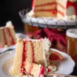 White Chocolate Cake with Blood Orange Filling and Russian Imperial Buttercream