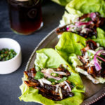 Bulgogi Portobello Mushroom Wraps with Pickled Mint Slaw